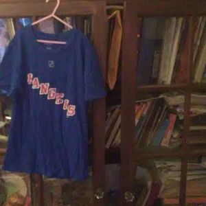 Blue new York rangers tee shirt